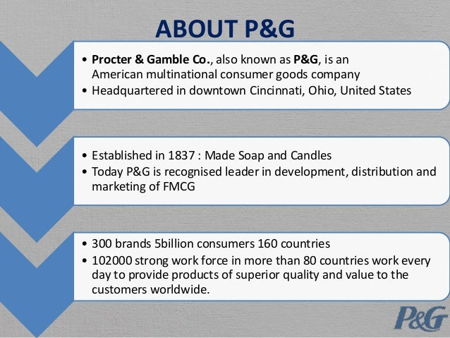 procter and gamble value chain