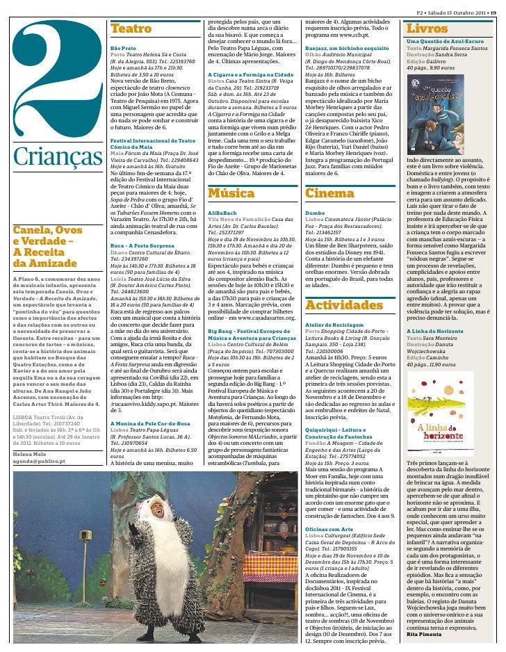 P2 • Sábado 15 Outubro 2011 • 19                                                                                 protegida...