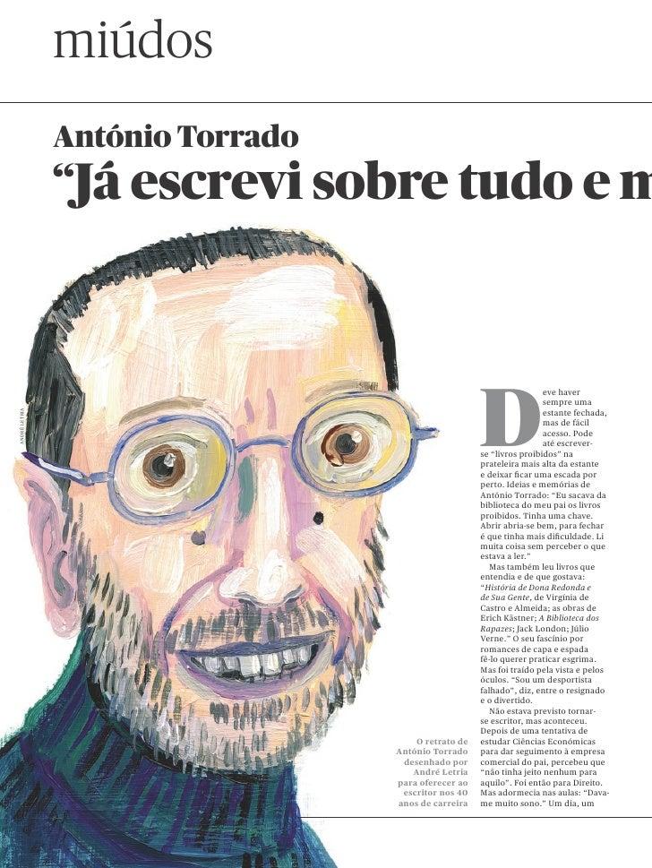 """miúdos                António Torrado                """"Já escrevi sobre tudo e m                                           ..."""