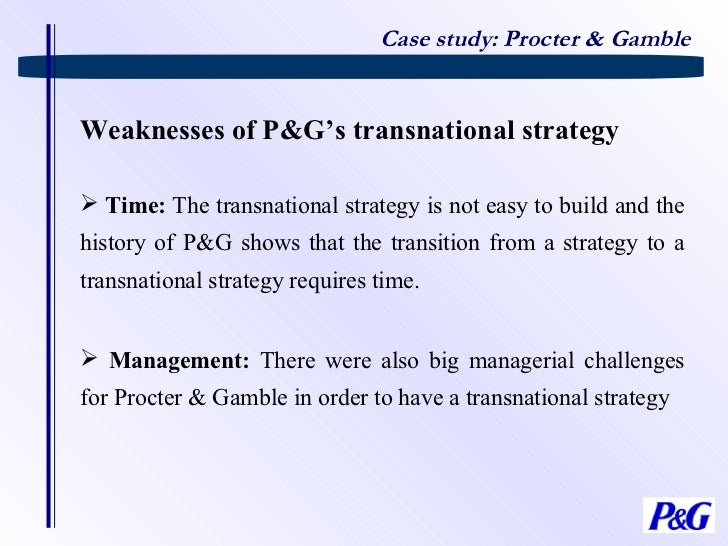p&g weaknesses