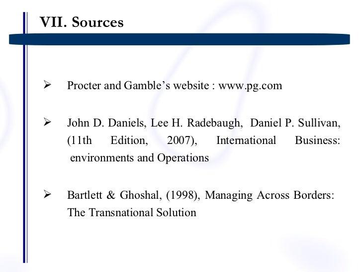 procter and gamble international operations