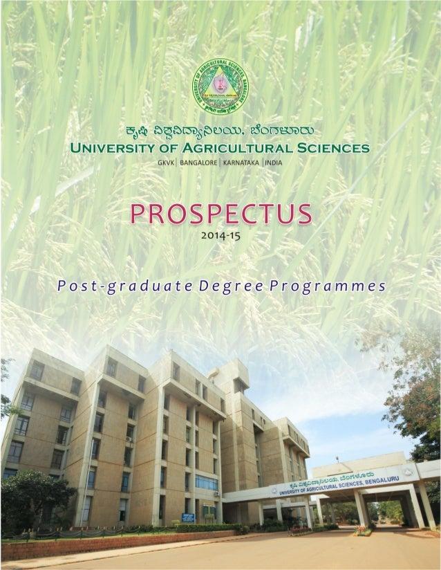 FOR FURTHER DETAILS CONTACT REGISTRAR University of Agricultural Sciences, GKVK, Bangalore - 560 065 Tel : 080-23330984 / ...