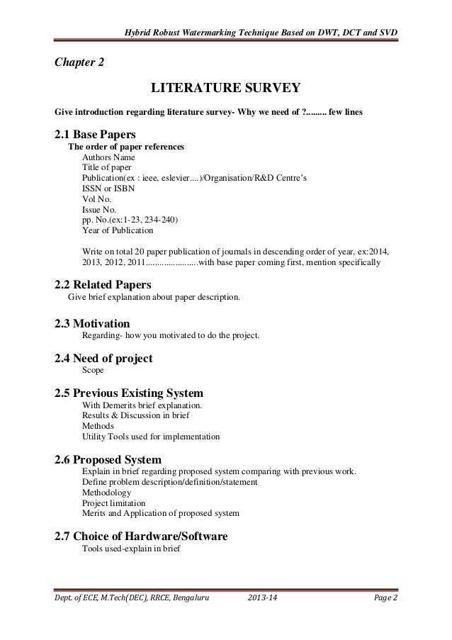 Vtu Pg Program Mtech Project Report Format