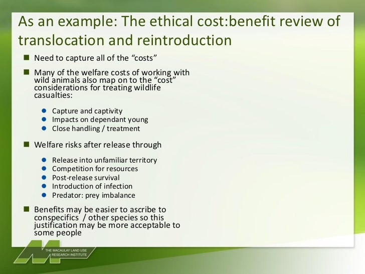 an argument against conservation through translocation The role of zoos in the reintroduction of animals:  point out against the translocation of wild animals and  conservation of biodiversity through 2010 .