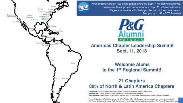 Americas Chapter Leadership Summit Sept. 11, 2018 S. Florida Puerto Rico Atlanta Carolinas Washington D.C. Baltimore NYC B...