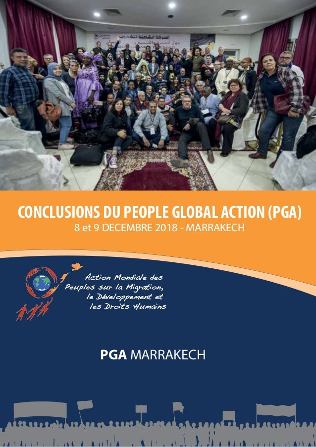 1 CONCLUSIONS DU PEOPLE GLOBAL ACTION (PGA) PGA MARRAKECH 2018 Jaarverslag 2011 Stichting Argan PGA MARRAKECH CONCLUSIONS ...