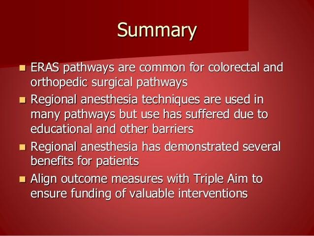 ERAS and regional anesthesia at PGA 2015