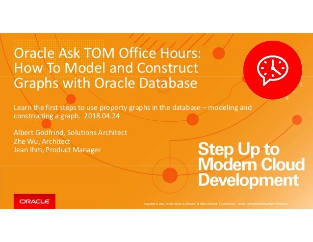 How To Model and Construct Graphs with Oracle Database