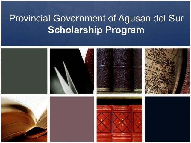 Provincial Government of Agusan del SurScholarship Program