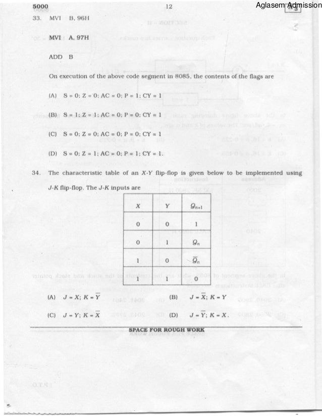 Pgcet electrical sciences 2011 question paper