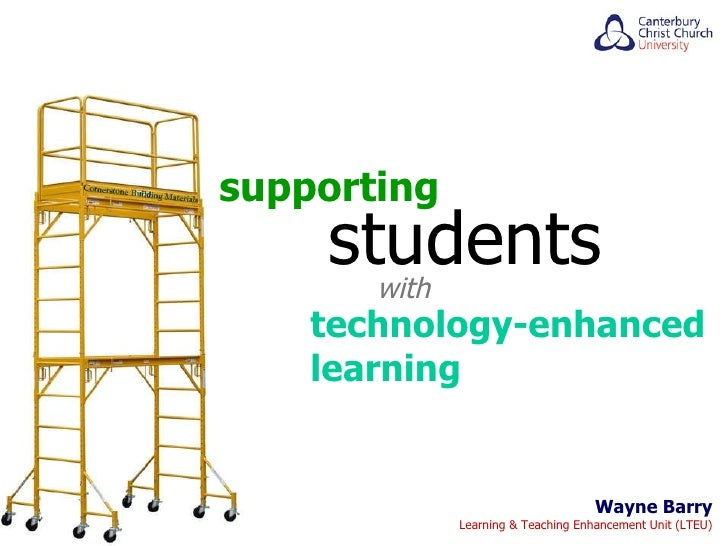 Wayne Barry Learning & Teaching Enhancement Unit (LTEU) supporting students with technology-enhanced learning