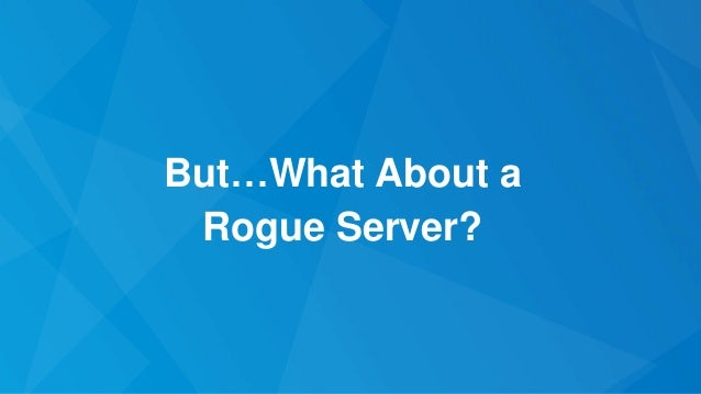 """Case #1: Server """"Claims"""" To Know Secret 107 Awesome, here is all of my secret information"""