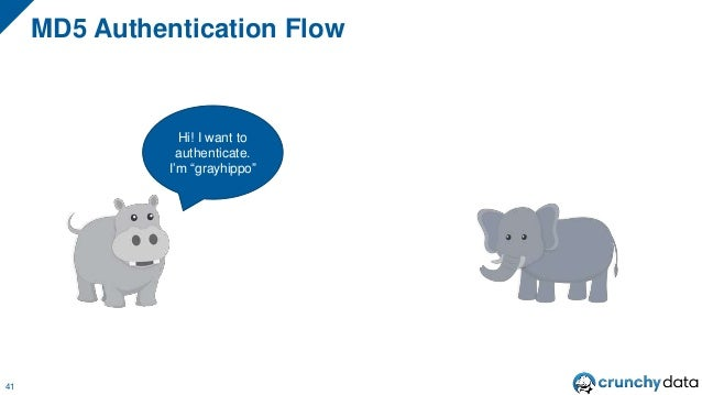 """MD5 Authentication Flow 41 Hi! I want to authenticate. I'm """"grayhippo"""""""