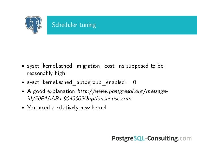 Linux tuning to improve postgresql performance for Option house com
