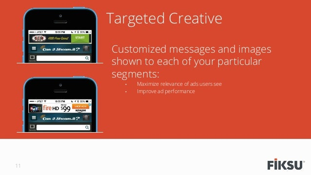 Targeted Creative Customized messages and images shown to each of your particular segments: • Maximize relevance of ads u...