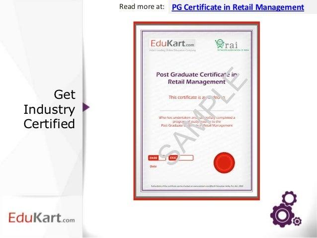 certificate retail graduate management