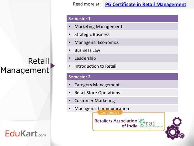 certificate retail management graduate