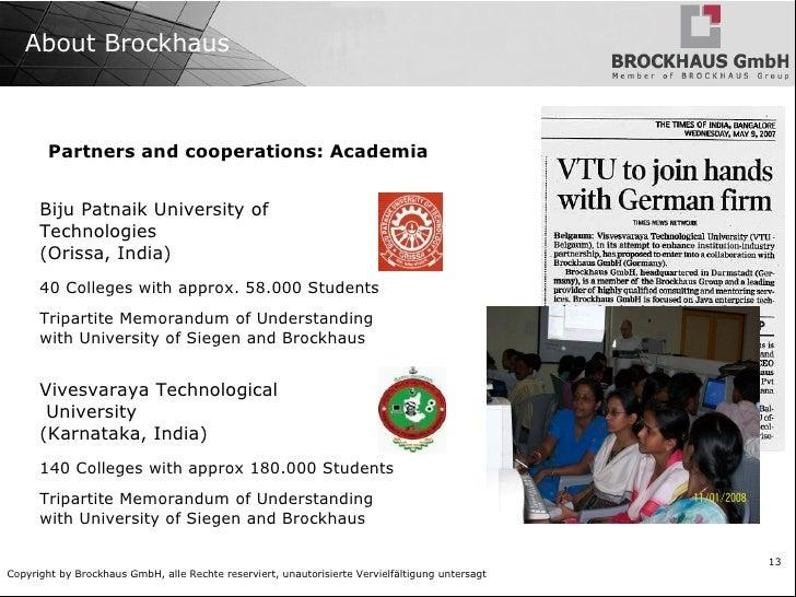 Brockhaus Group India and Germany </li></ul>