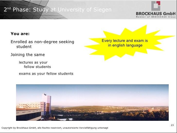 University of Siegen CHE-Ranking: