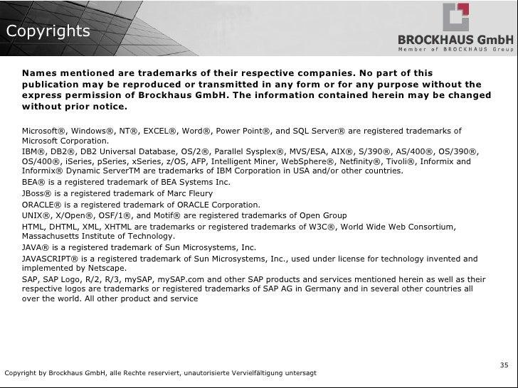About Brockhaus Partners and cooperations: Academia <ul><li>Biju Patnaik University of  Technologies  (Orissa, India) </li...