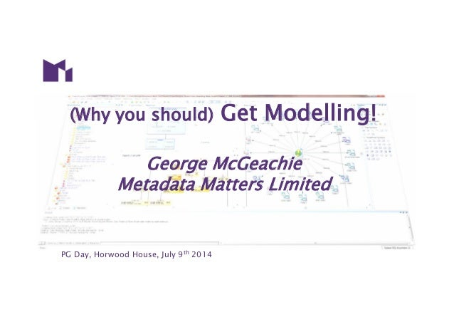 PG Day, Horwood House, July 9th 2014 (Why you should) Get Modelling! George McGeachie Metadata Matters Limited