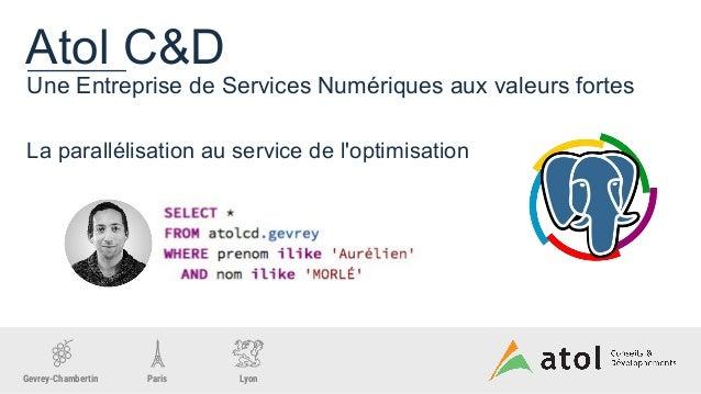 La parallélisation au service de l'optimisation Slide 2