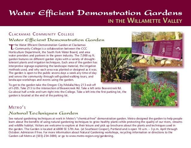 Water Efficient Demonstration Gardens                                                                                 in t...