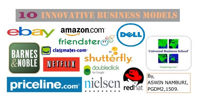 10 Innovative Business Models By, ASWIN NAMBURI, PGDM2,1509.