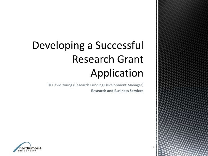 Dr David Young (Research Funding Development Manager)                         Research and Business Services              ...