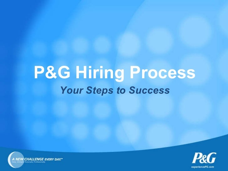 P&G Hiring Process Your Steps to Success