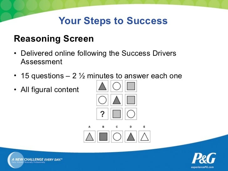 Procter and gamble reasoning test examples slot diamonds