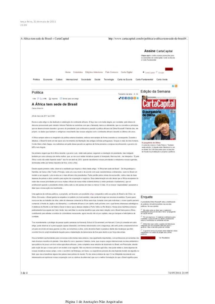 terça-feira, 31 de maio de 201121:09                                  Página 1 de Anotações Não Arquivadas