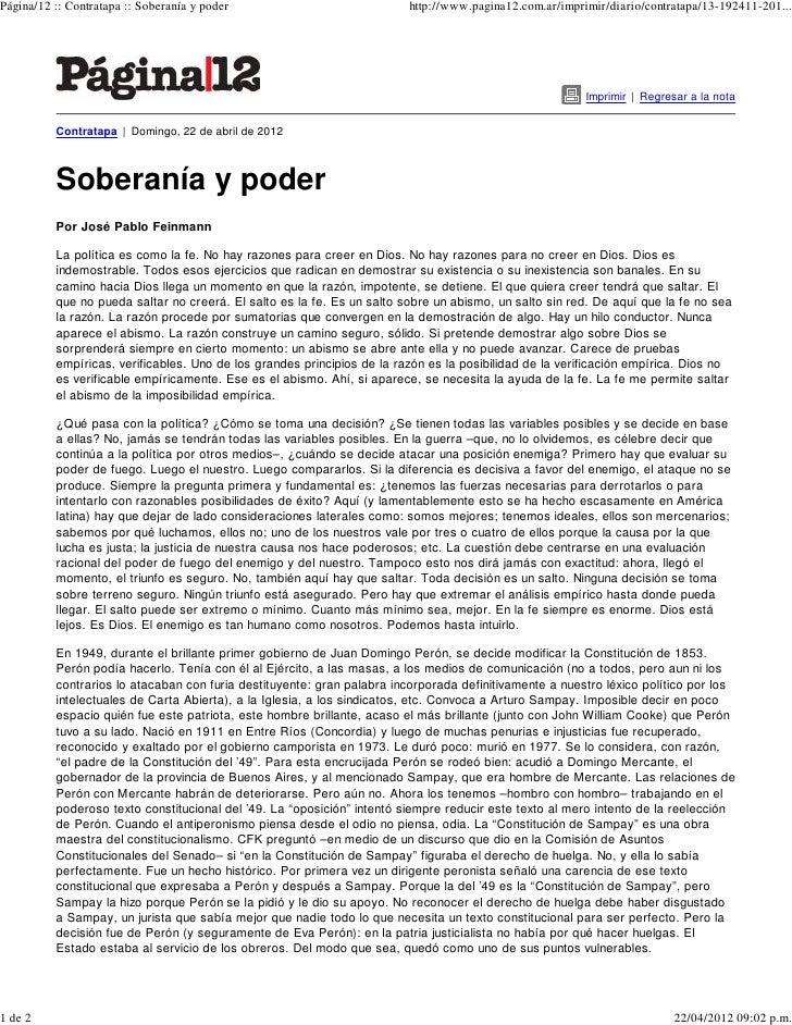 Página/12 :: Contratapa :: Soberanía y poder                             http://www.pagina12.com.ar/imprimir/diario/contra...