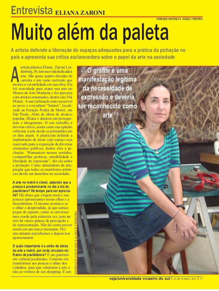 Entrevista ELIANA ZARONIMuito além da paleta                                                                              ...