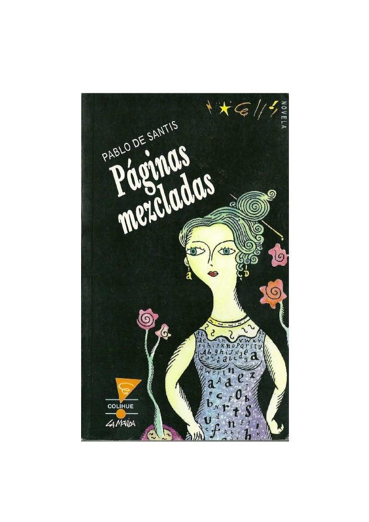 """""""Páginas mezcladas"""", Pablo De Santis"""