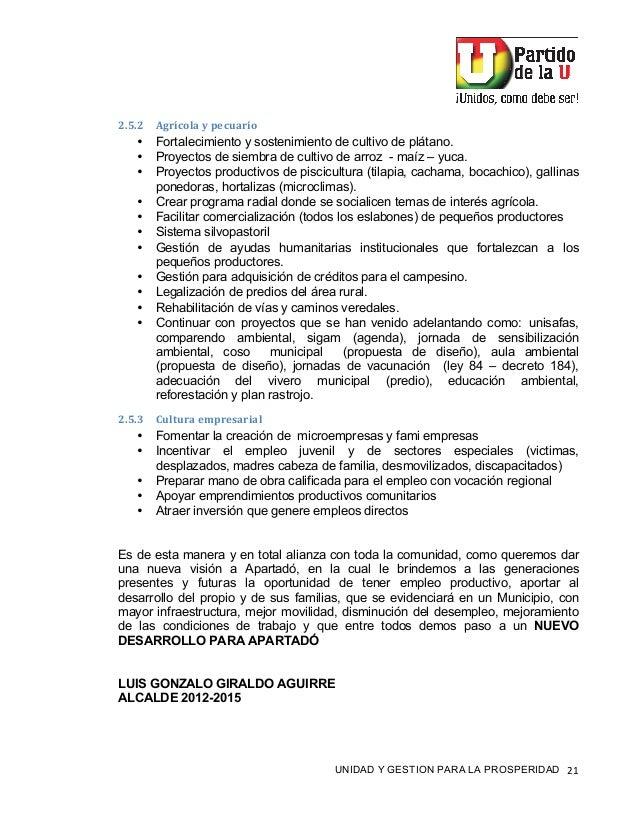 """! UNIDAD Y GESTION PARA LA PROSPERIDAD #""""! !""""I""""! BA%9+/<&-.-)*+5&%,/- • Fortalecimiento y sostenimiento de cultivo de plát..."""