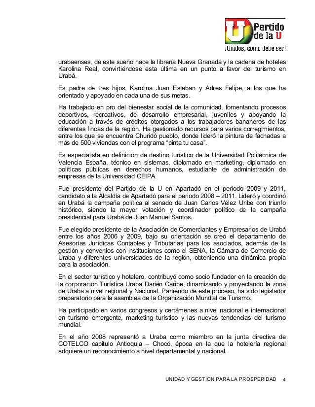 ! UNIDAD Y GESTION PARA LA PROSPERIDAD %! urabaenses, de este sueño nace la librería Nueva Granada y la cadena de hoteles ...