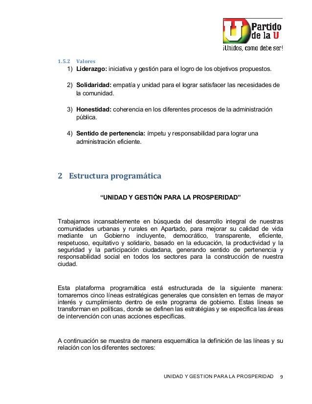 """! UNIDAD Y GESTION PARA LA PROSPERIDAD 9! 7""""Q""""G H01.2*+) 1) Liderazgo: iniciativa y gestión para el logro de los objetivos..."""