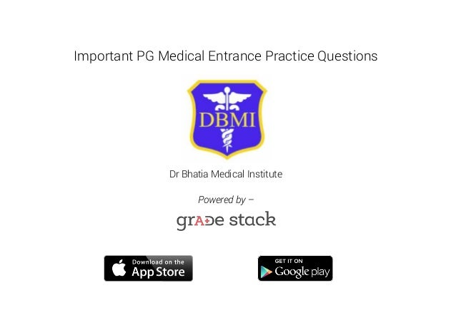 Pg Medical Entrance Practice Questions