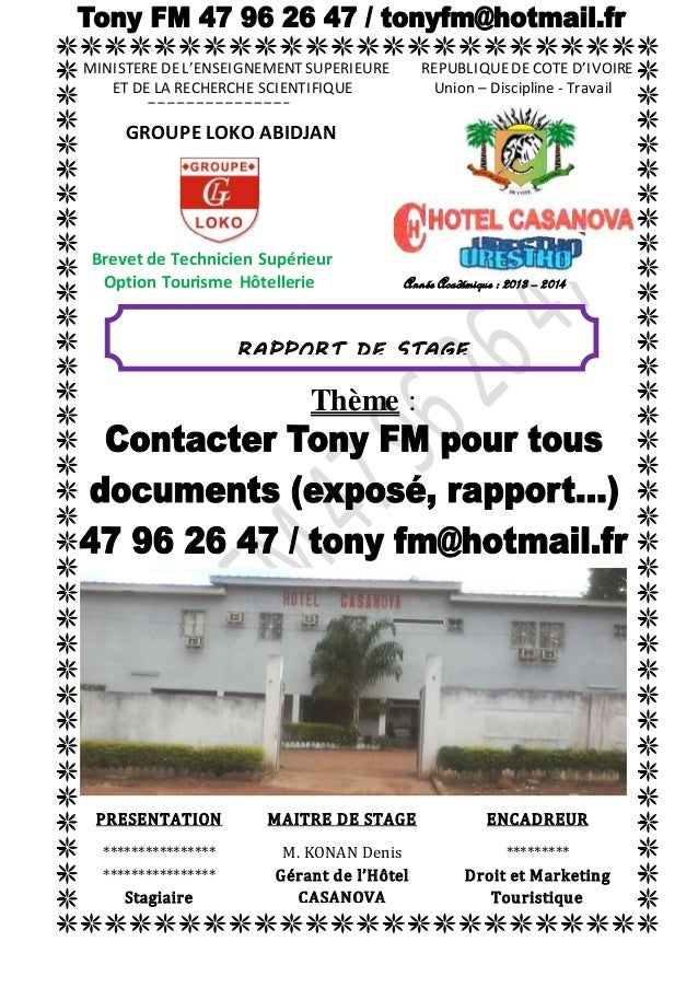 MINISTERE DE L'ENSEIGNEMENT SUPERIEURE REPUBLIQUE DE COTE D'IVOIRE  ET DE LA RECHERCHE SCIENTIFIQUE Union – Discipline - T...