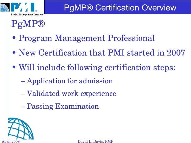 Pgmp Certification Overview Slide 2