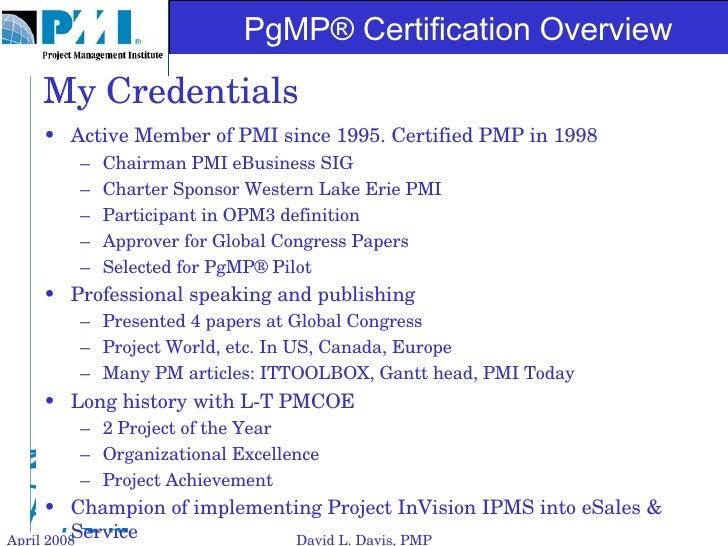 Pgmp Certification Overview Slide 3