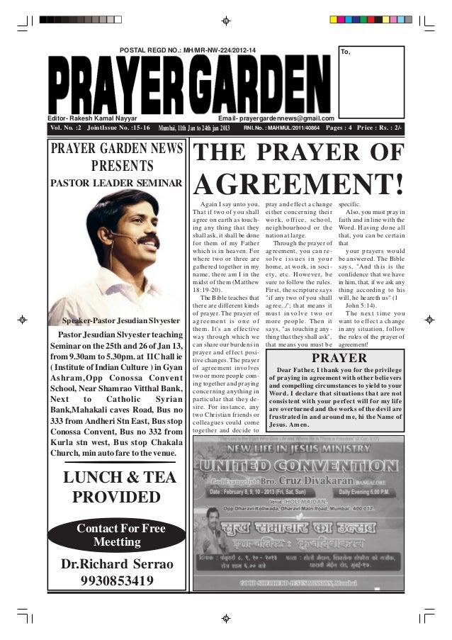 POSTAL REGD NO.: MH/MR-NW-224/2012-14                                                To,Editor- Rakesh Kamal Nayyar       ...