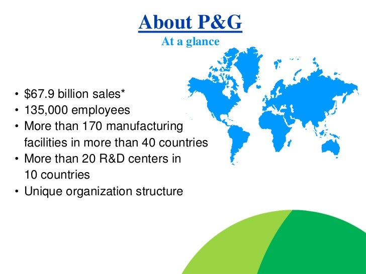 procter and gamble s organization 2005 project Procter and gamble is the world's biggest advertiser and the company which  defined  procter & gamble : advertising & marketing profile  that lasted a  year before mccann took full control of the project  wella, actonel and head &  shoulders joined the billion dollar club in 2004 dawn topped $1bn in sales in  2005.