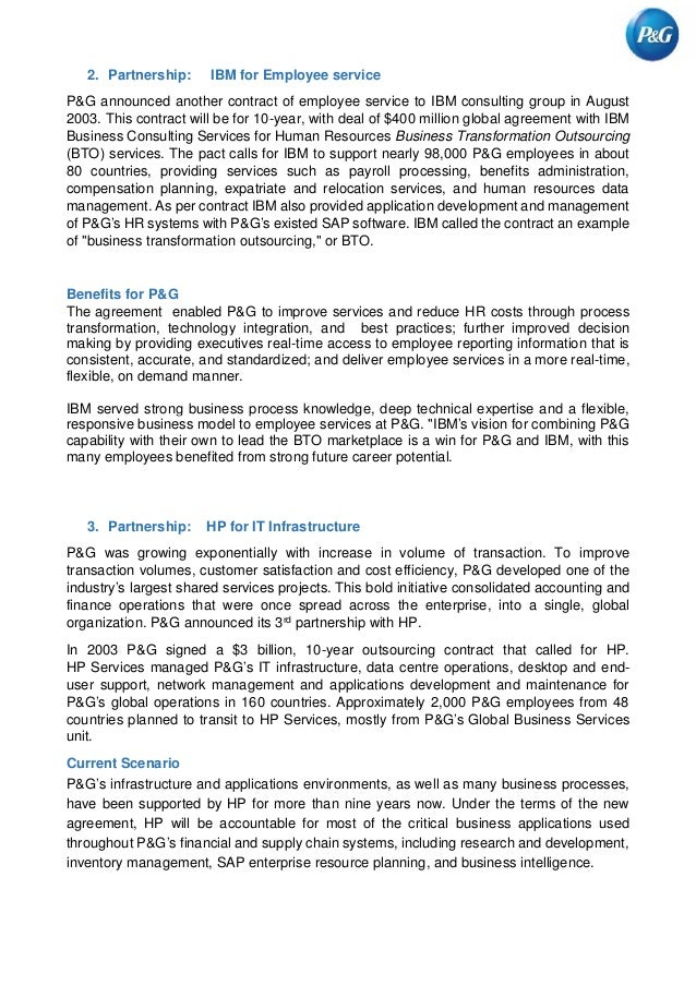 procter and gamble global business services case analysis