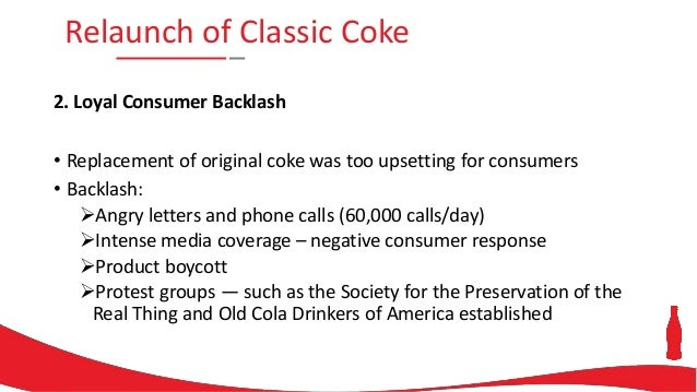coke blunder 1985 In 1985, coca-cola made a major marketing blunder by dropping their flagship brand (coca-cola) in favor of new coke quick reaction to the blunder saved the company from potential disaster looking back, marketers can now see that a.