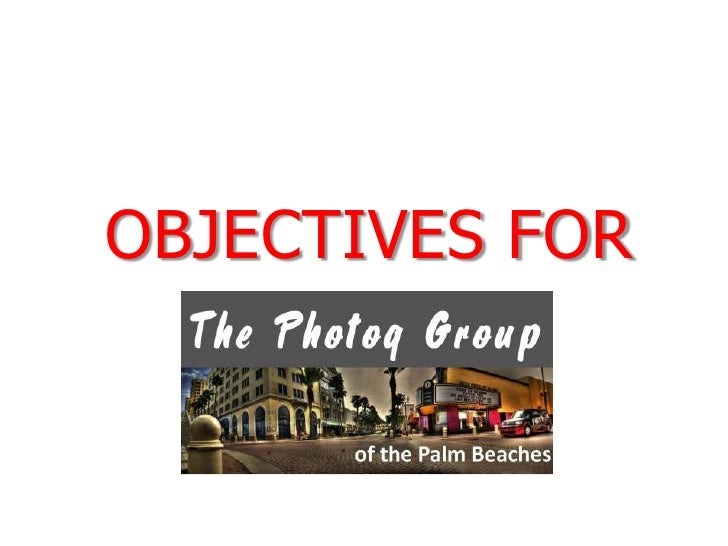 Objectives for<br />