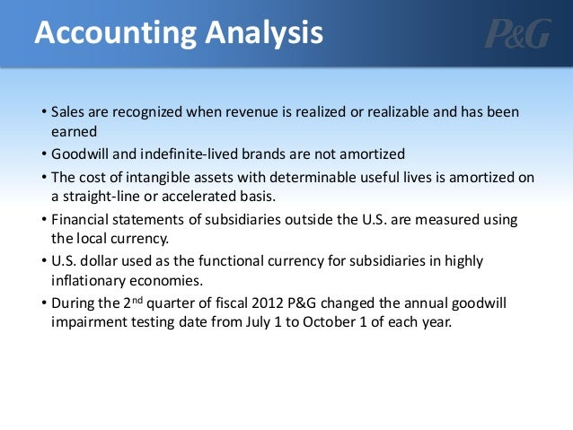 procter and gamble financial analysis