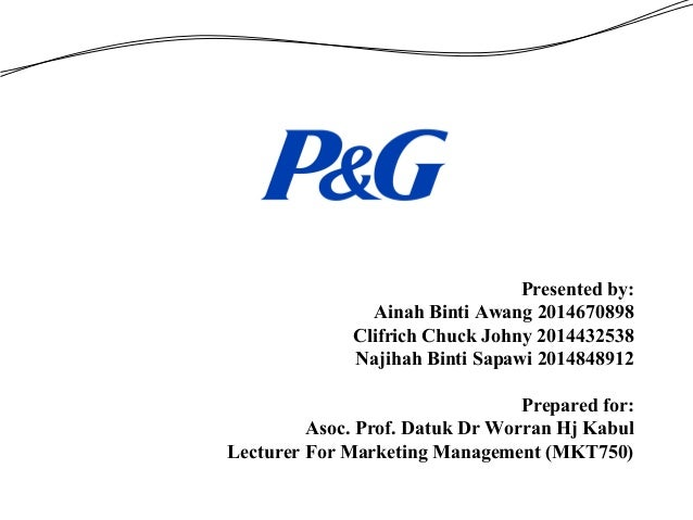 procter gamble case study View case study analysis (procter & gamble) from comm 296 at university of  british columbia situation analysis its the end of summer and procter&gamble.
