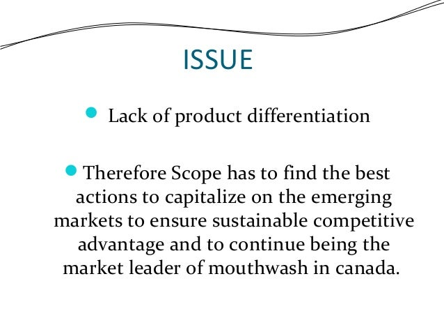 procter gamble scope case study Proctor and gamble scope case analysis 1) what significant changes have occurred in the canadian mouthwash market in the past three years the mouthwash.